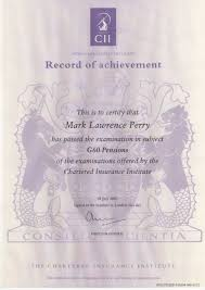 insurance institute advanced diploma g mark perry chartered insurance institute advanced diploma g60 mark perry