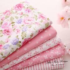 Aliexpress.com : Buy 5 pcs/ lot pink cotton diy patchwork floral ... & Aliexpress.com : Buy 5 pcs/ lot pink cotton diy patchwork floral quilting  fabrics for bags curtain tissue 40*50cm (15.7