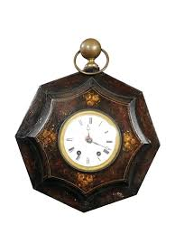 french wall clock painted tole country with pendulum provincial clocks australia style uk