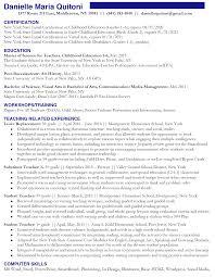 Resume Story Of A Teacher