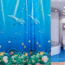 dolphin tropical fish c shower curtain foregather net