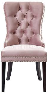 pink dining chair dining chair set of 2 pink velvet fabric by meridian pink dining chairs pink dining chair