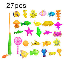 Green Magnet Fishing Light Review Us 4 54 35 Off 27pcs Set Plastic Magnetic Fishing Toys Baby Bath Toys Fishing Game Kids 1 Poles 1 Nets 25 Magnet Fish Indoor Outdoor Fun Baby In