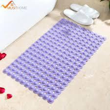 2018 38cmx70cm bathroom non slip bath mat modern foot massage bathtub mat pvc shower back er natural rubber mildew resistant non slip bath mat