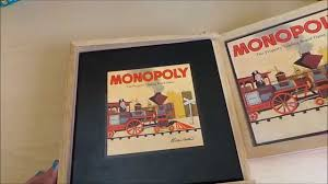 Wooden Monopoly Board Game MGTRACEY Looks at the wooden classic Monopoly Board Game Set 92