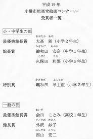 小樽市能楽堂絵画コンクール表彰式