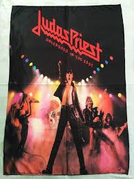 <b>JUDAS PRIEST</b> - <b>Unleashed</b> in the east FLAG (cloth poster) Size: 78 ...