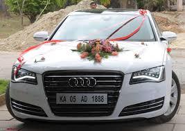 Wedding Car Decorate Wedding Car Decoration 2 Red Gold Motif