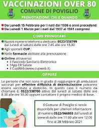 Coronavirus, al via le vaccinazioni per gli ultra 80enni – Comune di  Poviglio
