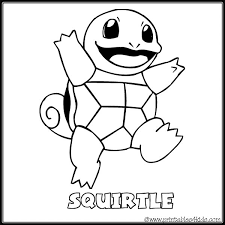 Small Picture Pokemon Squirtle coloring page Printables for Kids free word