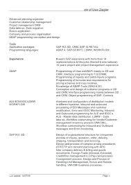sap bw resume samples sap bi bw sample resume for mm consultant 1 yomm