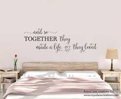bedroom wall decal and so together they