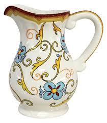 Decorative Ceramic Pitchers Duomo Decorative Ceramic Water Filtration Pitcher 100100 DUO 34
