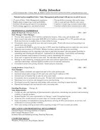 Sample Resume For Management Position Resumes Retail Manager Resume Summary Examples Free Management 45