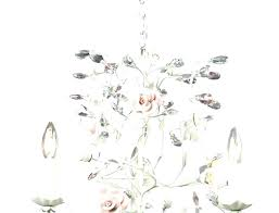 white rustic chandelier blown glass lamp chandeliers shabby chic rust
