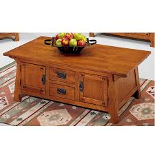 Solid Oak Craftsman Mission Coffee Table