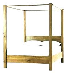 Cheap Wood Canopy Bed Frames Diy Frame King Size Wooden Home ...