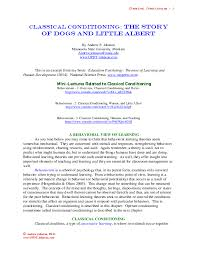 Classical Conditioning In The Classroom Pdf Behaviorism Classical Conditioning Pavlov And Watson