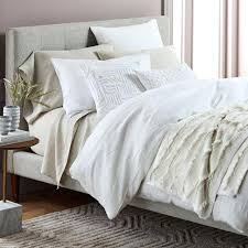 interior vintage washed flax linen bedding set sheets collection echelon home sheet pottery barn matteo