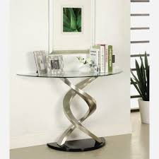 half circle entry table beautiful console throughout glass plans 12 with round entryway inspirations 15