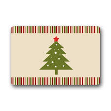 Amazon.com: Merry Christmas Tree Black Cat Snowflake Custom Doormat Door  Mat Outdoor/Indoor: Home & Kitchen