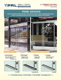 new full frame and all glass door panic device
