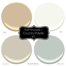 farmhouse paint colorsSherwin Williams 3 Neutral Farmhouse Country Paint Palettes