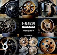 industrial furniture wheels. Antique Industrial Cast Iron Furniture Casters Wheels