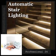 led stair lighting kit. Automatic-LED-Stair-Lighting-Smart-Stairway-24-Kit- Led Stair Lighting Kit D