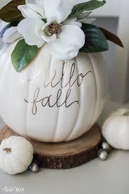 diy faux magnolia pumpkin such a cute fall pumpkin home decor craft love this