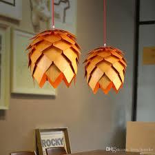 denmark antique ph artichoke oak wooden pineal modern creative handmade wood led hanging pendant lamp lighting light 25cm 60cm hanging light shades bedroom