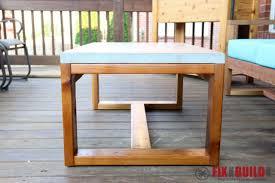 diy outdoor table. DIY Concrete Coffee Table Outdoor Diy L