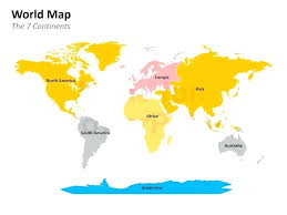 Editable World Map Powerpoint Template Class Inheritance C