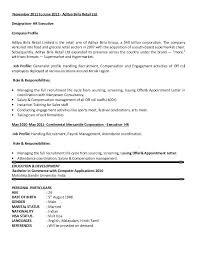 Resume Sample Web Free Ton Of Resume Example