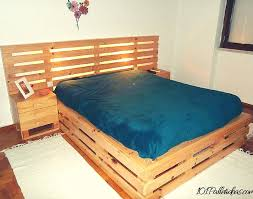 making a bed frame from wood pallet ideas to create awesome diy bedroom furniture