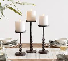 easton iron pillar candlesticks