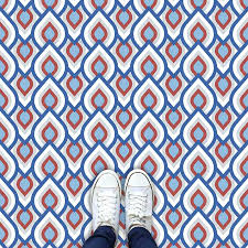 image of iver design available as a colourful and vibrant made to measure patterned vinyl flooring