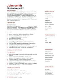 curriculum vitae layout free resume cover letter a expertly laid out physics teacher curriculum