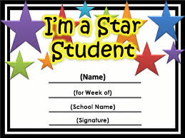 Star Of The Month Certificate Template Free Star Awards Templates Certificates Star Student Certificate 2