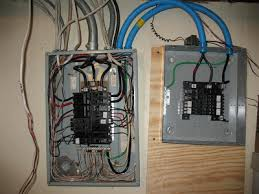 basic electrical wiring ae125 service smaller stress test breaker Square D GFCI Wiring-Diagram at 240v Sub Panel Wiring Diagram