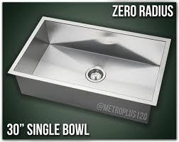 30 single bowl undermount 16 gauge stainless steel kitchen sink zero radius new