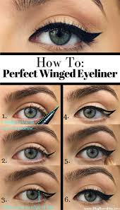 1 first if you want to go for a basic winged liner look check out these tips