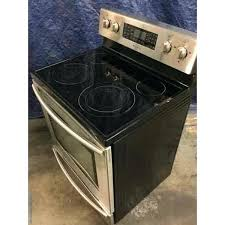 used stainless range glass top electric 1 year warranty samsung stove burner not working