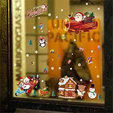 Tmeog 2 Blätter Fensteraufkleber Weihnachten Christmas