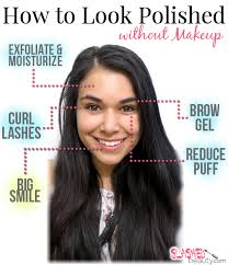 how to look pretty without makeup tips