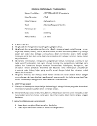 Maybe you would like to learn more about one of these? Rpp Bahasa Inggris Listening Smp Kelas 7 Kurikulum 2013