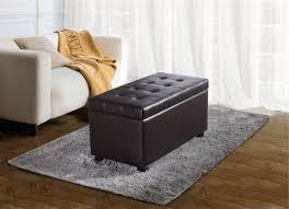 faux leather ottoman. WyndenHall Essex Medium Rectangular Storage Ottoman Bench | Walmart Canada Faux Leather N