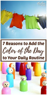 Days Of The Week Chart For Toddlers 7 Reasons To Add The Waldorf Color Of The Day To Your Daily