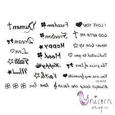 Nalepovací Tetování Slova A Symboly