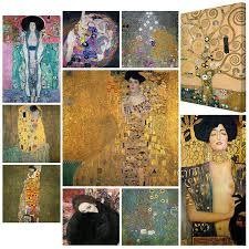 Tele intelaiate Motivo: Gustav Klimt Well-known Paintings Giardino Casale  Bilderwelten Stampa su tela Top Gustav Klimt Canvas Pictures Dimensione:  30cm x 30cm quadri su tela quadro su tela quadri quadri tela Casa
